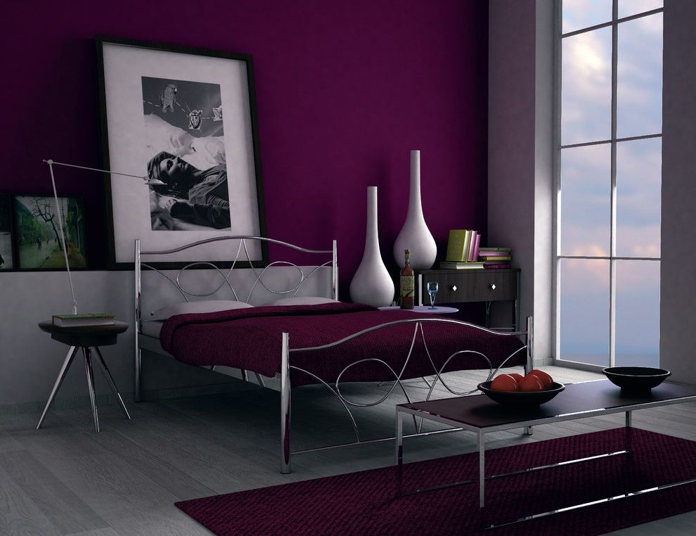 Interesting Eggplant And Grey Bedroom Contemporary - Best Ideas ...