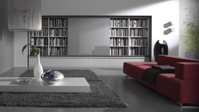 Moderne Wohnwände gruber schlager schiebeplatte hochglanz grau ...
