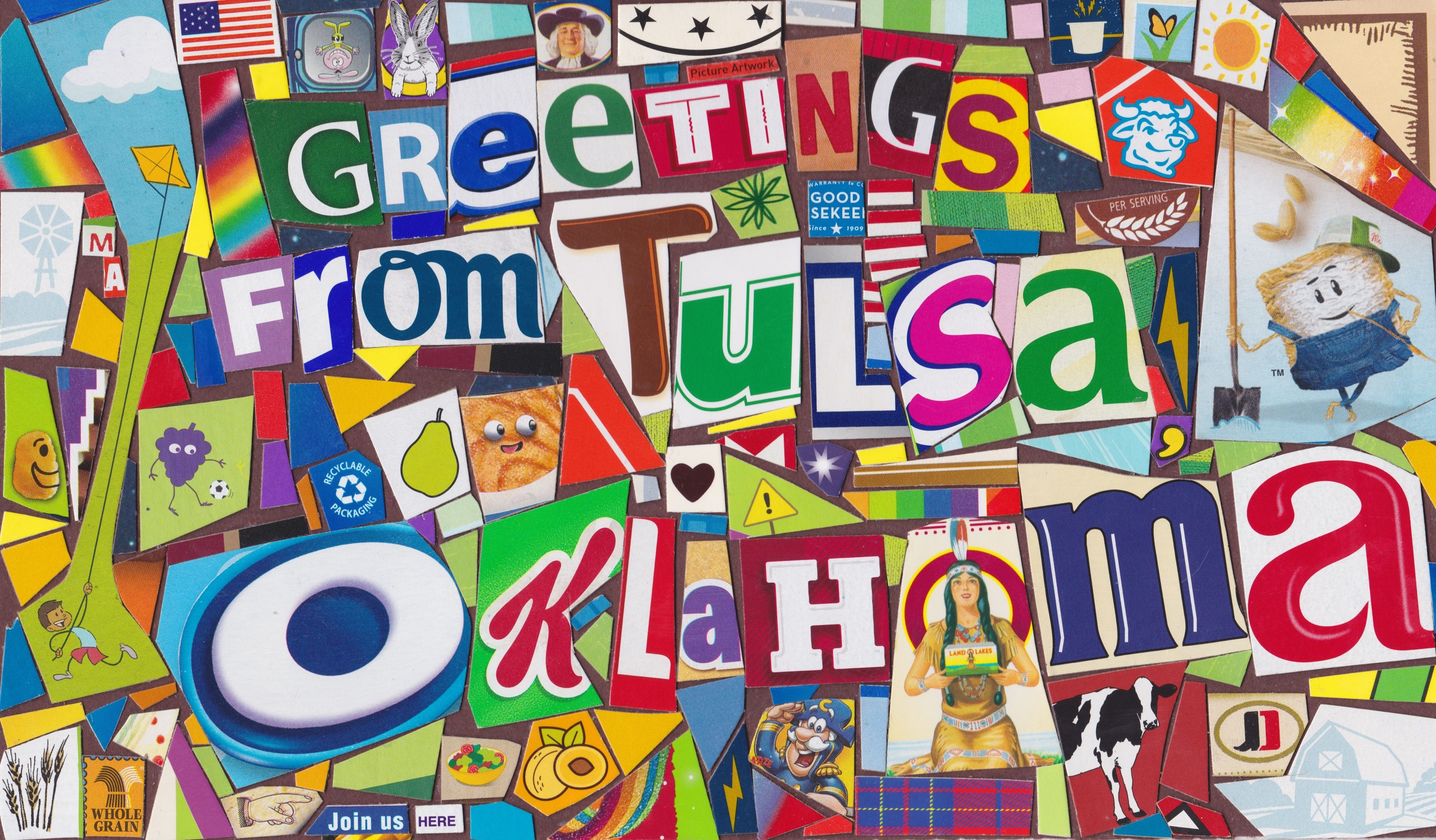 Greetings From Tulsa Oklahoma Finished 3419 Wooden Puzzles Puzzle Games For Kids Classic Toys