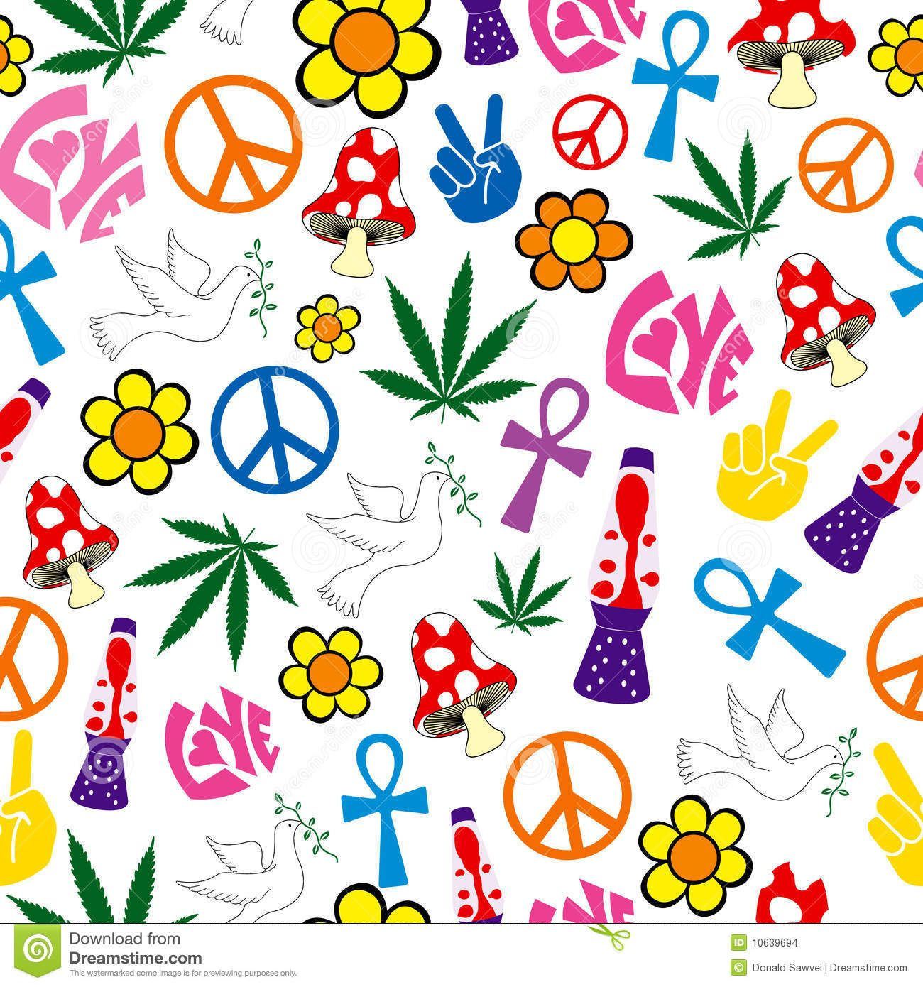 Peace love happiness wallpaper cool seamless 60s icons background peace love happiness wallpaper cool seamless 60s biocorpaavc Image collections