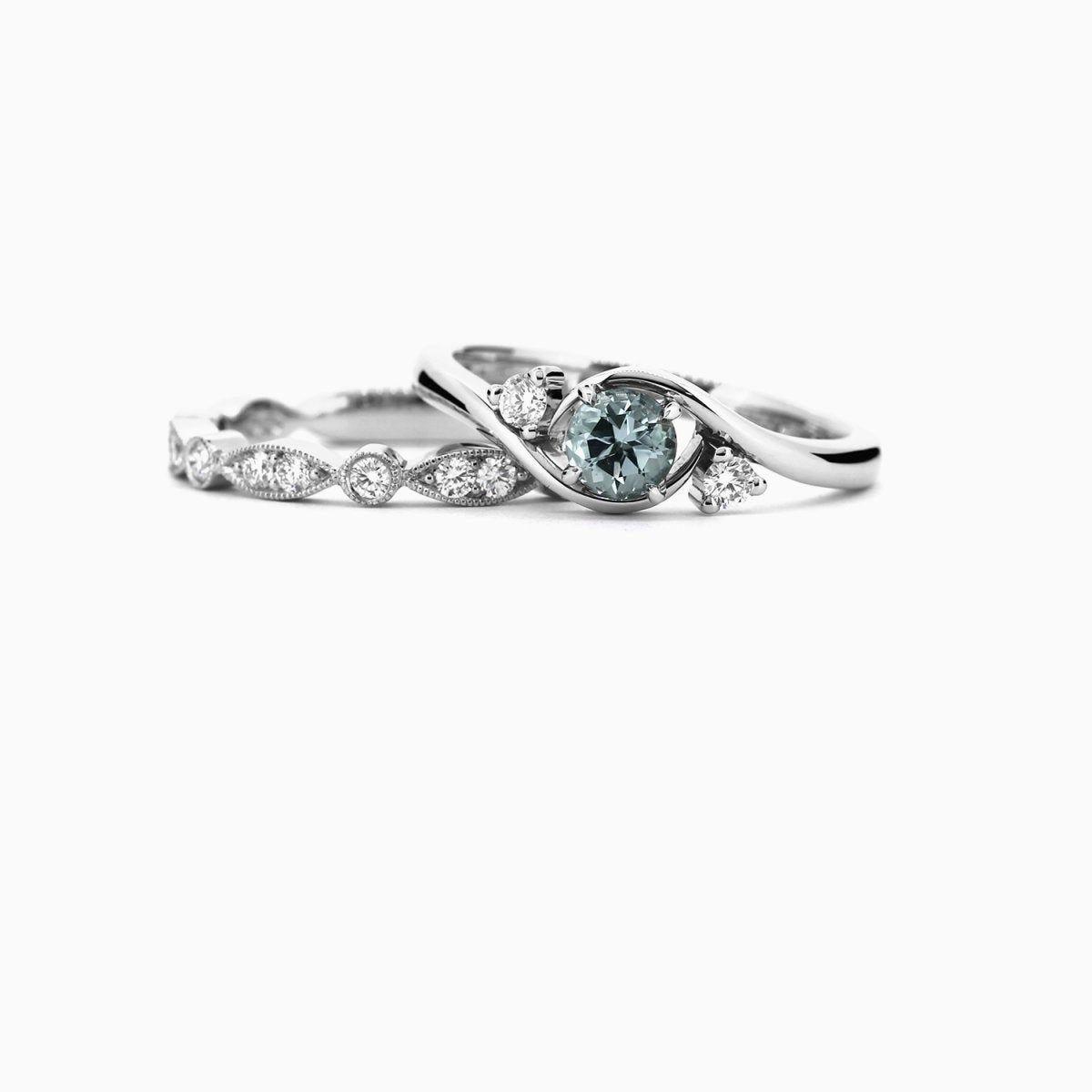 Aquamarine Vintage Solitaire Engagement Ring Diamond Ring Etsy Sapphire Engagement Ring Set Tourmaline Engagement Ring Pink Sapphire Ring Engagement