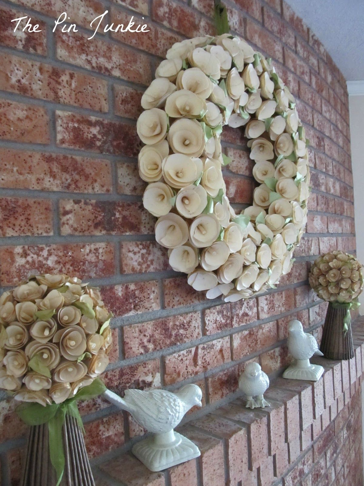 Hang items on brick without drilling fireplace decor