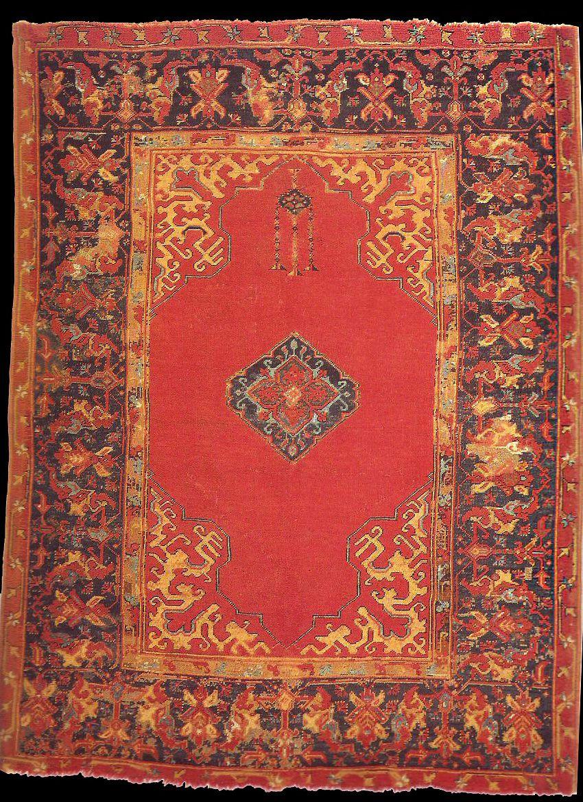 Anatolian ushak rug 17th century john dmcilhenny