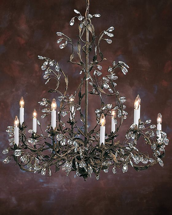 56488736d2b18b burnished hand wrought iron and Swarovski crystal chandeliers ...