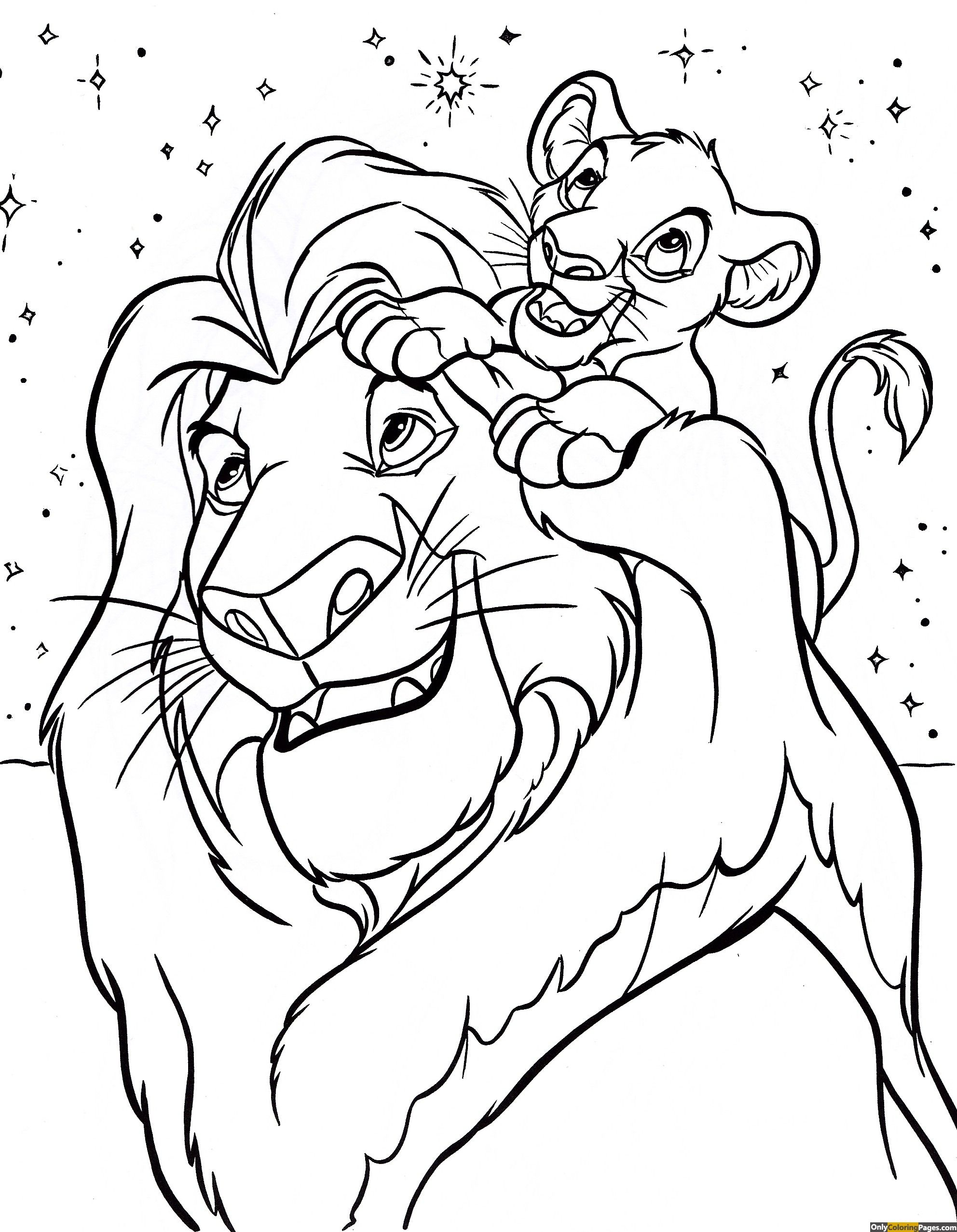 Disney Coloring Pages Lion King Disney Coloring Pages Printables