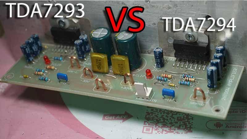 Tda7293 Vs Tda7294 Audio Power Amplifier Project Audio Amplifier