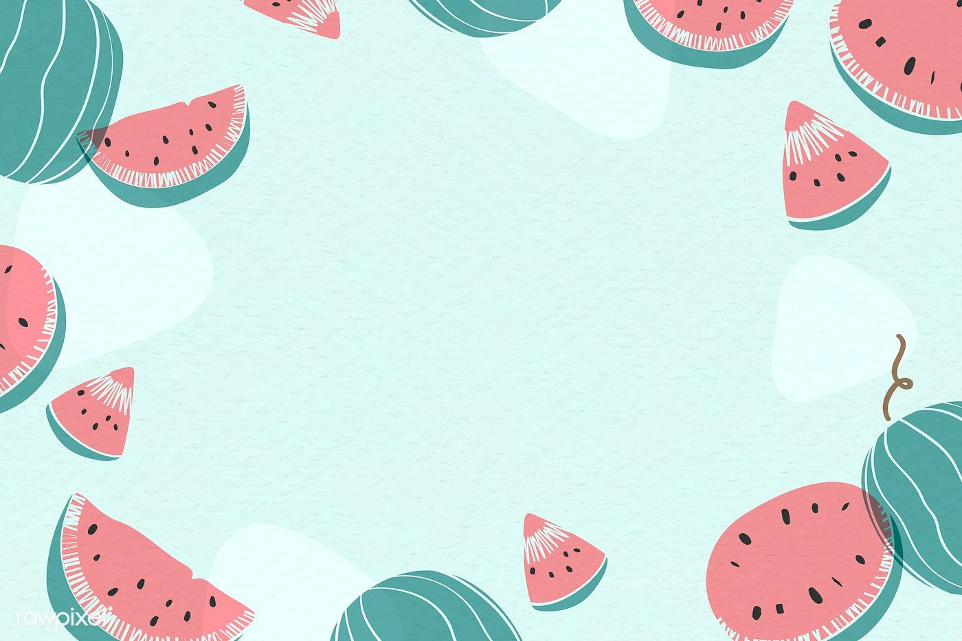 Download Premium Vector Of Watermelon Patterned Background With Design Background Patterns Watermelon Wallpaper Graphic Wallpaper