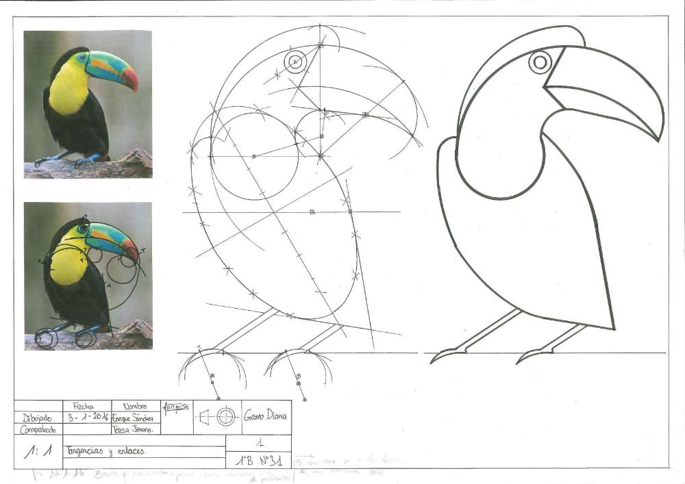 Dibujo Tecnico Y Diseno Colegio Gamo Diana Criatividade Serralheiro Naif