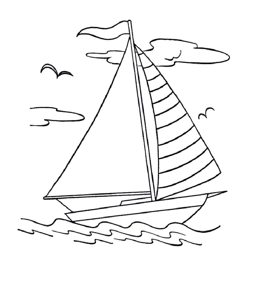 Free Printable Boat Coloring Pages For Kids   Goma eva, Colorear y ...