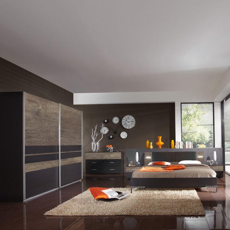 Schlafzimmerset 5-tlg »MALAGA« lava, Wildeiche Jetzt bestellen - günstige komplett schlafzimmer