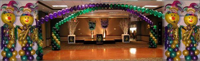 Mardi Gras Ball Decorations | Awards Night, Pirates Or Mardi Gras Balloon  Sculptures