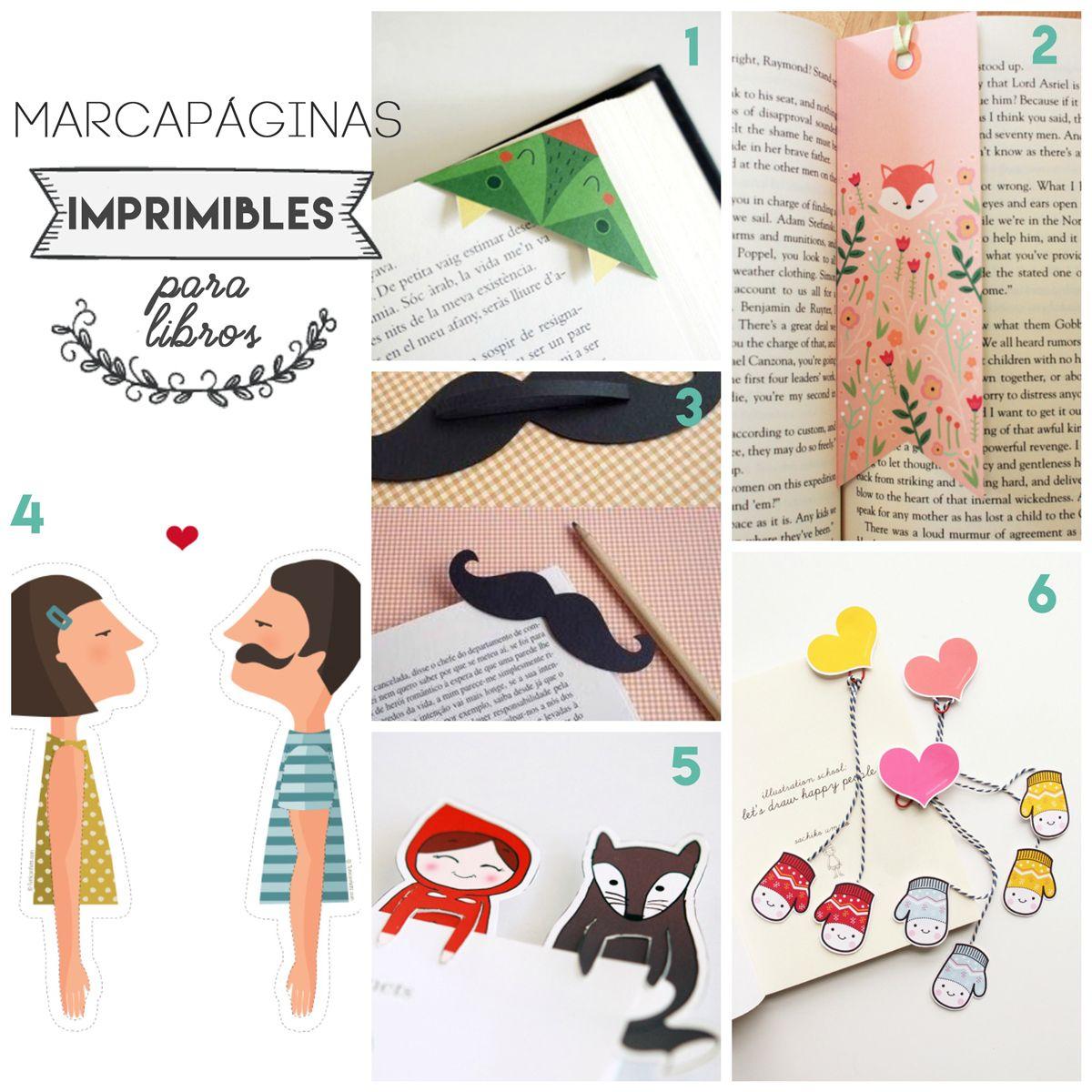 6 marcapaginas para libros imprimir gratis para regalar 6 for Libros para regalar