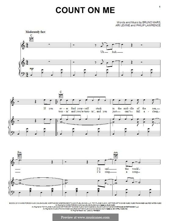 Count On Me Bruno Mars Guitar Chords Passionx