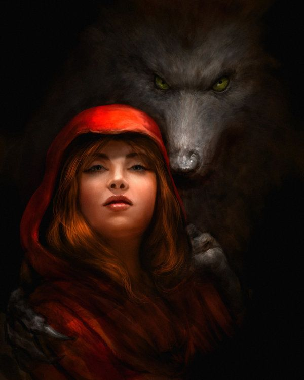 How To Draw Little Red Riding Hood Wolf