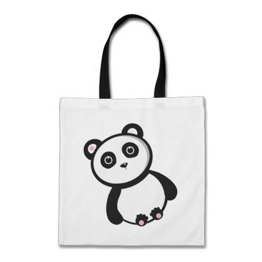 Kawaii Panda Tote Bags