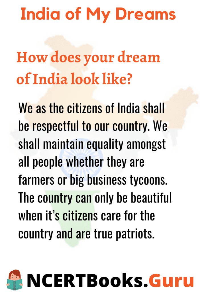 Indiaofmydreamsessay Essayonindiaofmydream Ncertbooksguru 500 Word Essay Short India