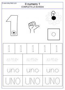 Scheda Numeri Da 0 A 10 Math 1 10 Writing Numbers Classroom