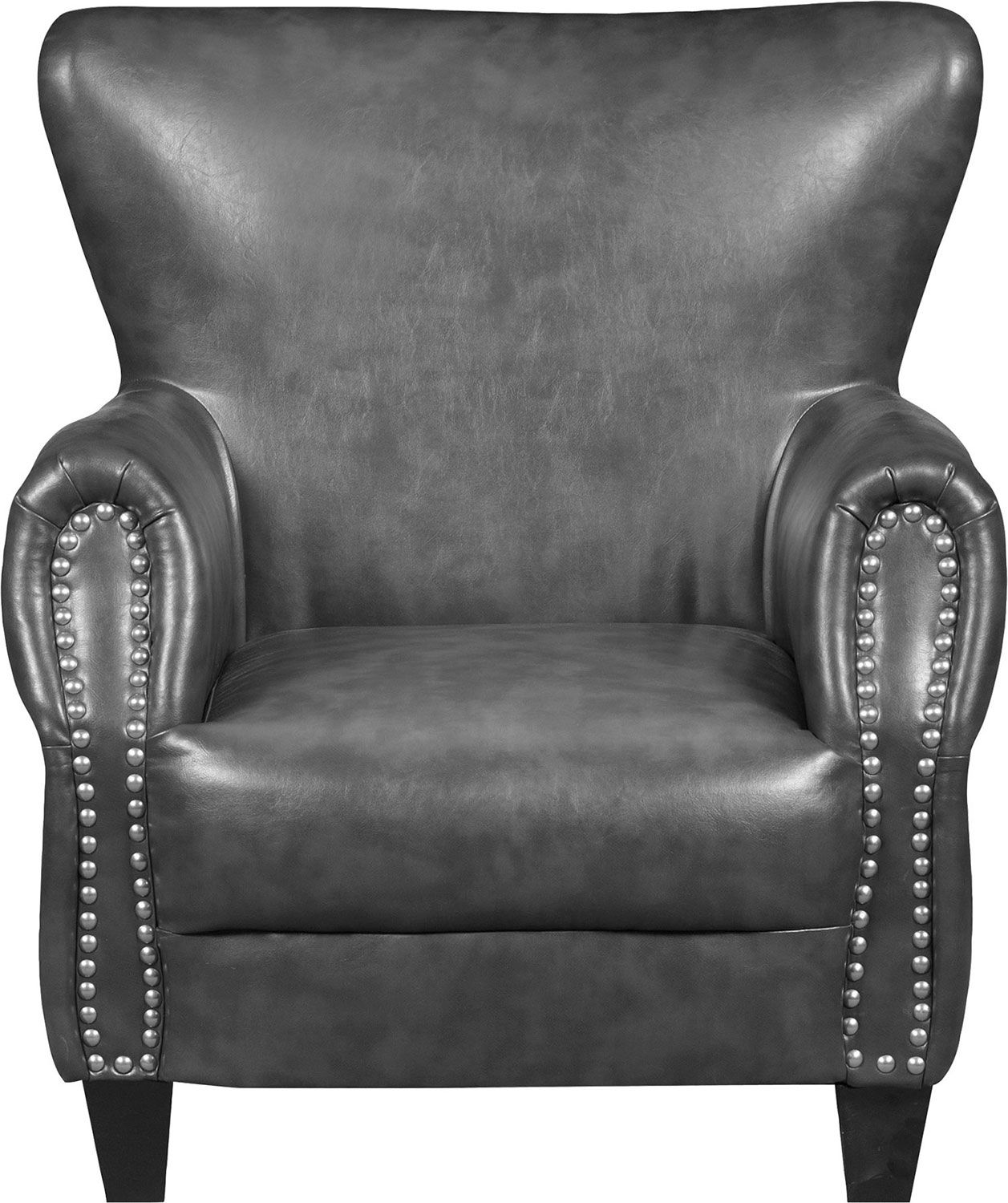 Best Flint Bonded Leather Accent Chair Grey The Brick 400 x 300