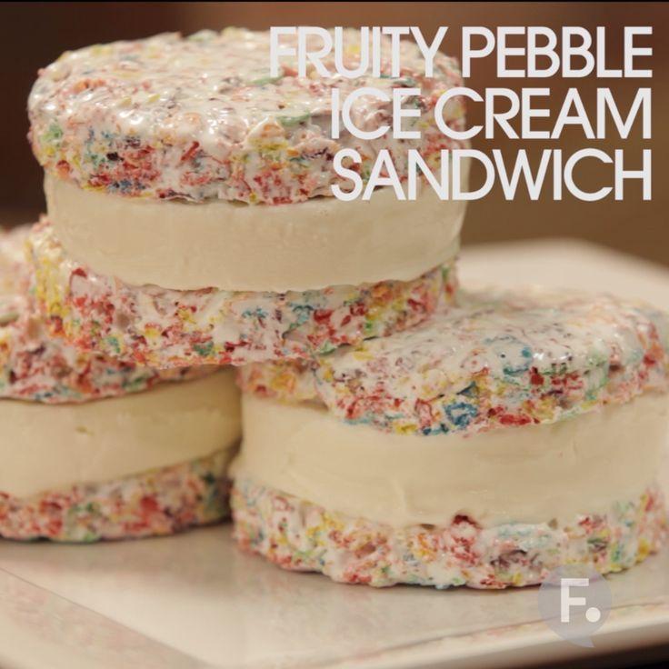 Fruity Pebble Ice Cream Sandwich Baby Showers Pinterest