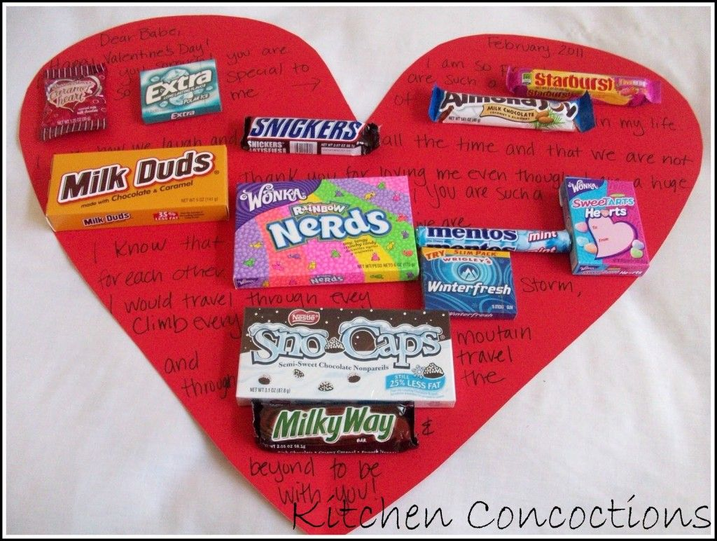 Various gifts for valentines with a very big homemade for Creative valentines day ideas for wife