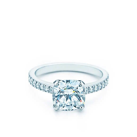 Tiffany S Novo Engagement Ring Solitaire Square Cushion