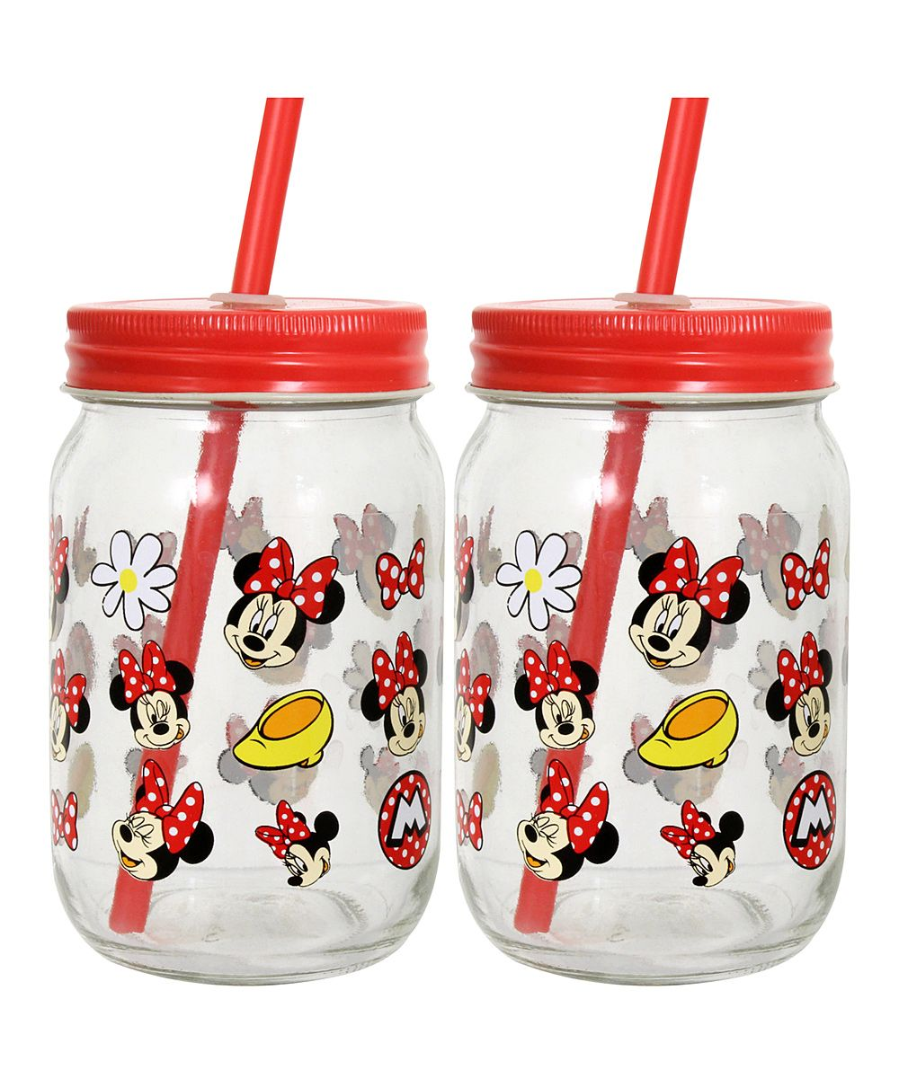 Minnie Mouse Scattered 16-Oz. Tumbler - Set of Two