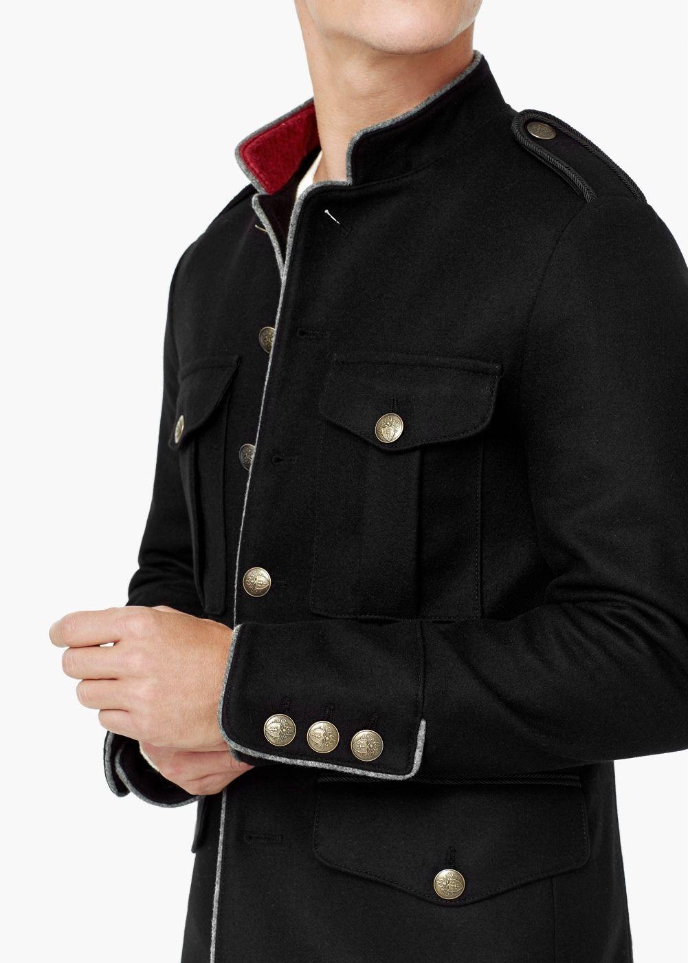 جاكت بمظهر عسكري الرجال Mango Man الإمارات العربية المتحدة Military Style Jackets Military Fashion Jackets Men Fashion