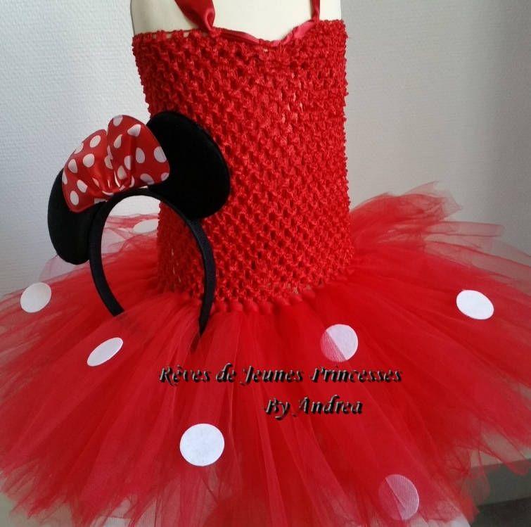 d59349e222d4a Petite robe tutu rouge à pois blanc