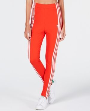 e419fbdd5a adidas Originals High-Rise Track Pants - Red XS | Products | Adidas ...