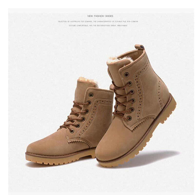 premium selection 28392 8100c Encontrar Más Botas de los hombres Información acerca de Moda de invierno  de las mujeres hombre de gamuza invierno botas damas botas de nieve de  mediados de ...
