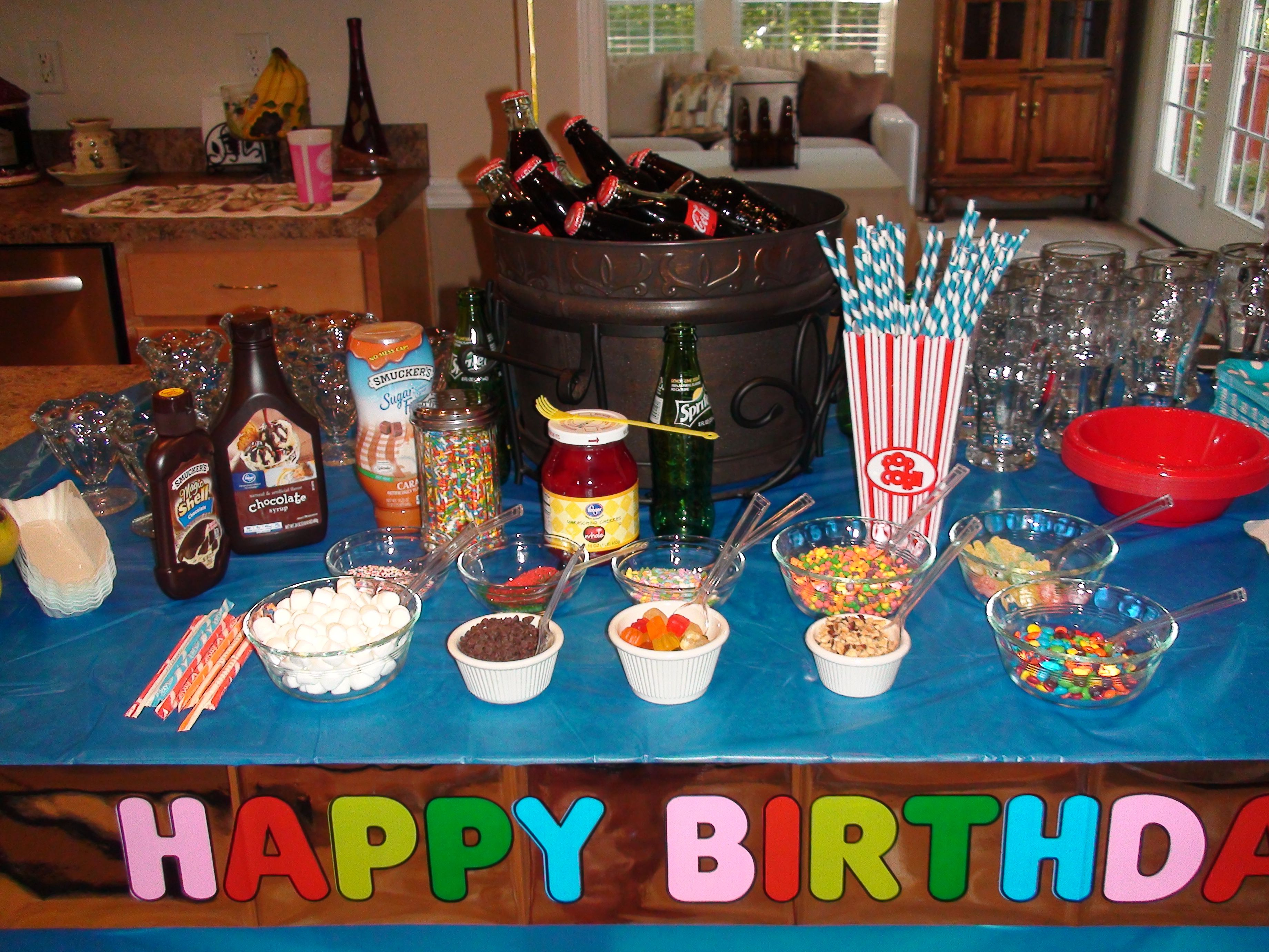 12 Year Old Party, Root Beer Floats, Banana Splits, Ice