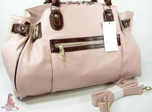Steve Madden Purse Large Satchel Bag Blush Pastel Pink Summer Shoulder  Strap NWT