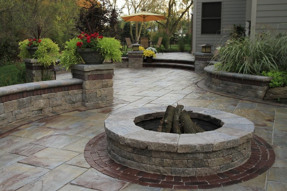 find this pin and more on unilock pavers wallstone - Unilock Patio Designs