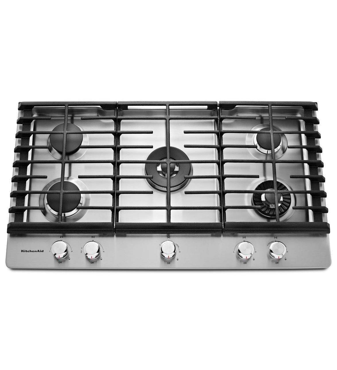 KitchenAid® 36'' 5-Burner Gas Cooktop with Griddle- one ...