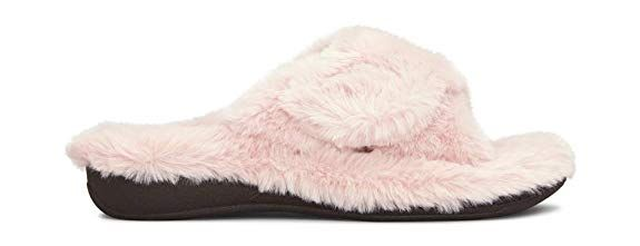 3300d3d3c02 Vionic Women s Indulge Relax Plush Slipper - Adjustable Slipper with Concealed  Orthotic Support  Slippers