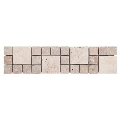 Farra Decorative Travertine Border - 3in. x 12in. | Floor and Decor