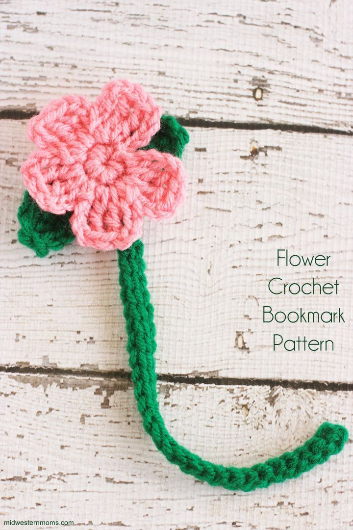Flower Crochet Bookmark Pattern | Ganchillo