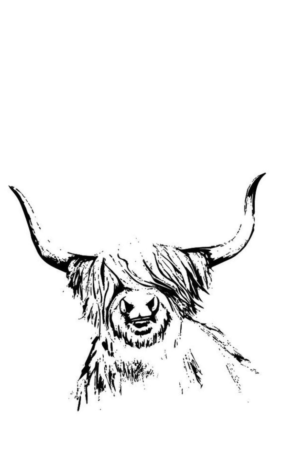 Highland Cow Svg Cow Svg Printable Highland Cow Art