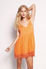 Plain Jane Playsuit - Orange $69.95