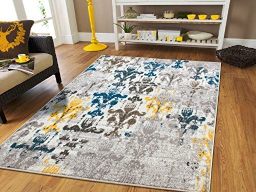 Faded Rugs Contemporary Rugs Blue Contemporary Rug 5x7 Grey Modern