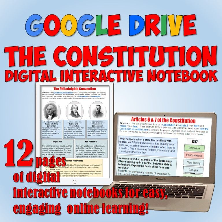 Amazing Digital Resource Of 12 Fully Editable Interactive Notebook Pages On America S Con Interactive Notebooks History Interactive Notebook Google Interactive