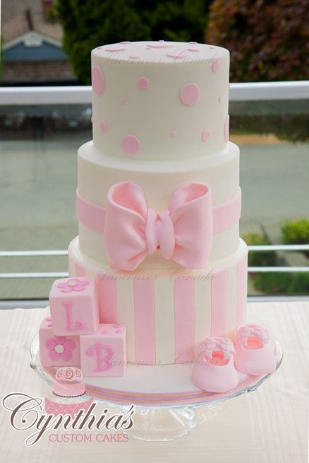 Pink And White Baby Shower Cake Cakes Beautiful Cakes For The