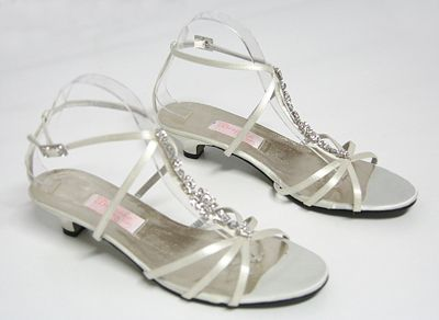 Flat Wedding Shoes Ivory On Diamond Strappy Sandal Crystals Bridal Bride