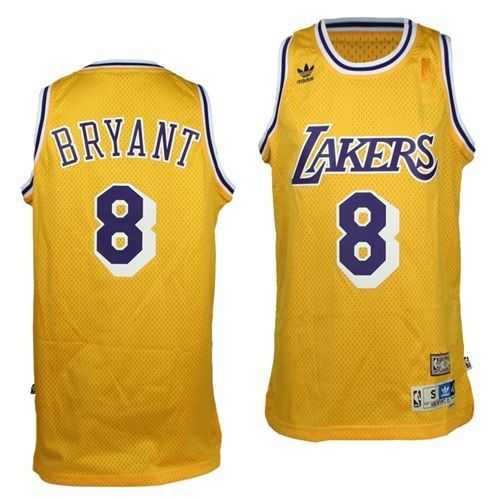 ae606cd2653b ... Kobe Bryant Jersey - Los Angeles Lakers 8 Yellow Throwback Swingman  Baskebtall Jersey . ...