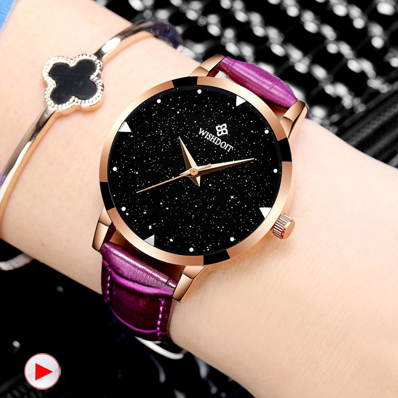 Watches Learned 2018 New Luxury Fashion Leather Band Analog Quartz Round Wrist Watch Watches Women Watches Bracelet Watch Ladies Relogio Femini Discounts Price