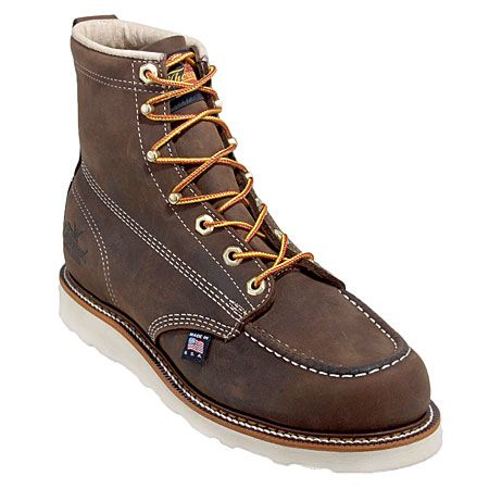 0858ebecbd1 Thorogood Boots Men's Brown Moc Toe 814-4203 USA Made American ...