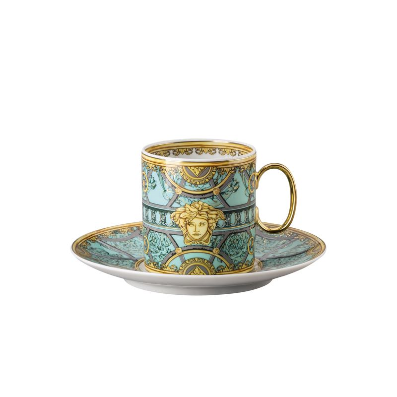 Kaffeetasse 2-tlg. Scala Palazzo Verde Versace - Kaffeetassen aus der Serie Versace Scala Palazzo Verde von Versace by Rosenthal. Kaffeetasse 2-tlg. Scala Palazzo Verde Versace