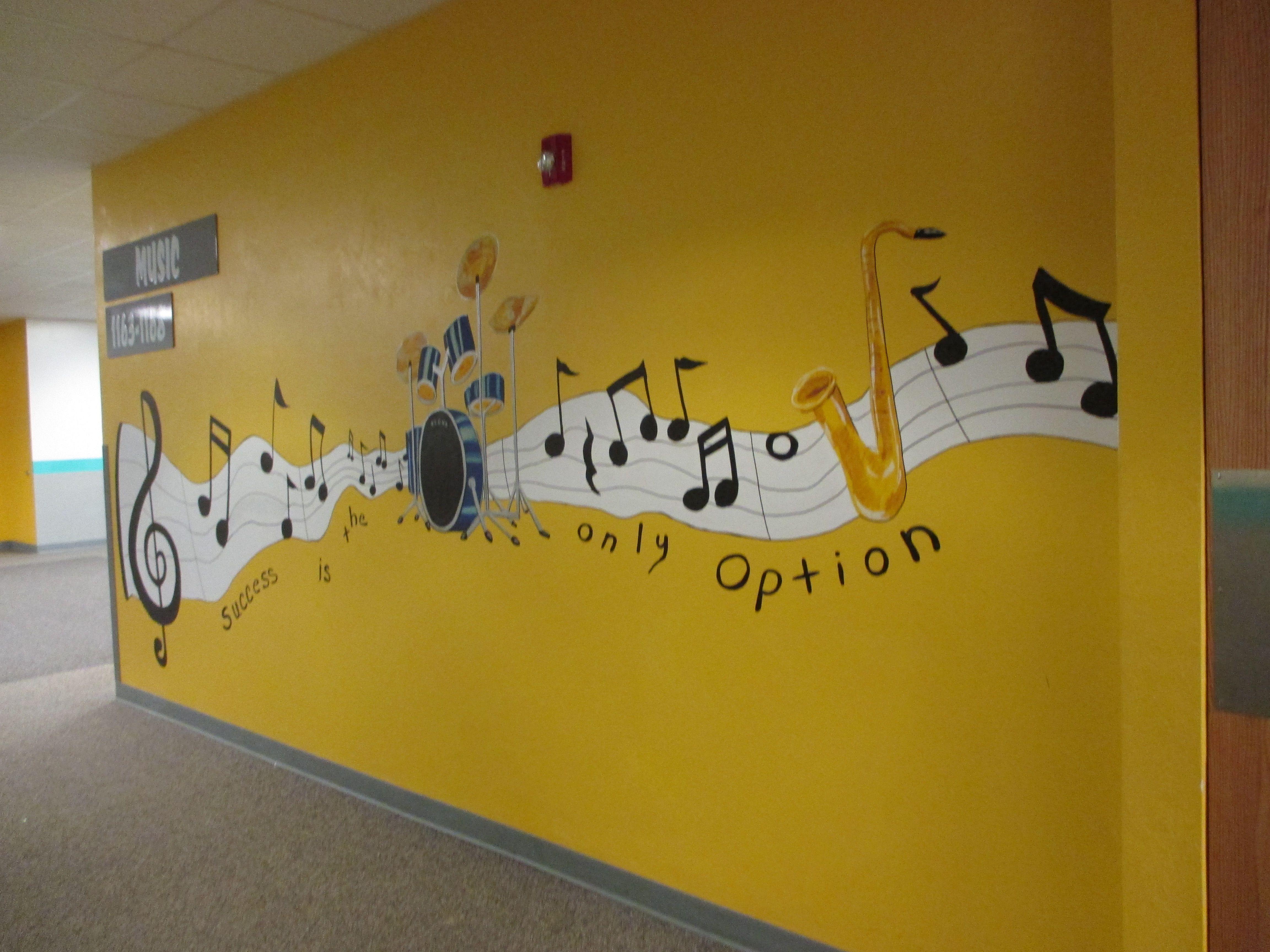 Music Department Hallway | High School Hallway Murals | Pinterest ...