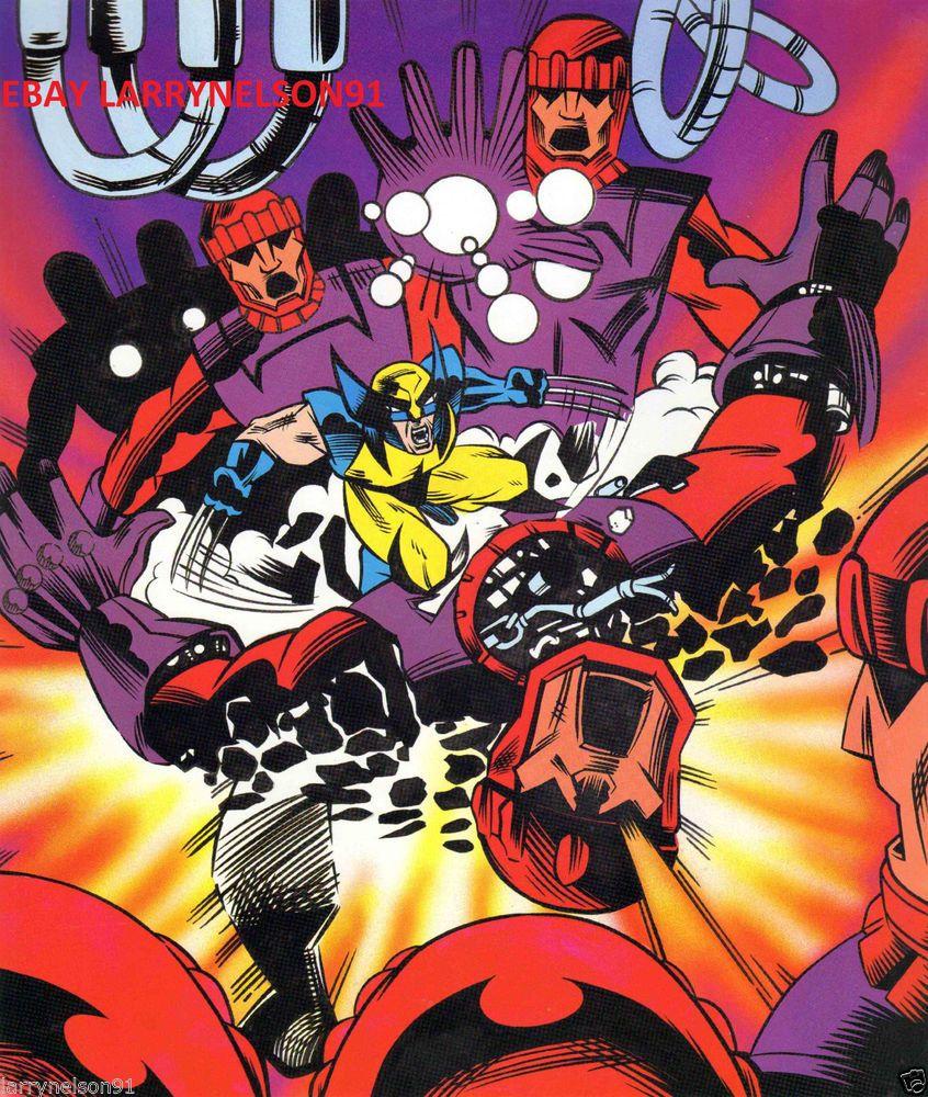 WOLVERINE KILLING SENTINELS MARVEL COMIC BOOK POSTER UNCANNY X-MEN MASTER MOLD