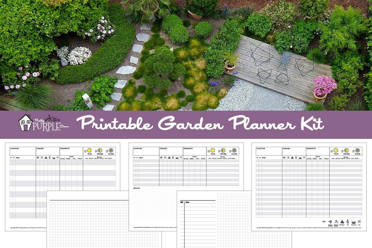 Printable Garden Planner Kit Pretty Purple Door Garden Planner Raised Bed Garden Design Planner Kit